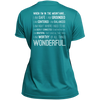 Apparel Ladies Short Sleeve Moisture-Wicking Shirt / Tropical Blue / Small When I'm In The Mountains...(Back) - Athletic Tee