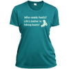 Apparel Ladies Short Sleeve Moisture-Wicking Shirt / Tropical Blue / Small Who Needs Heels? Life's Better in Hiking Boots!