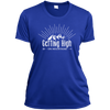 Apparel Ladies Short Sleeve Moisture-Wicking Shirt / True Royal / Small Getting High on Mountains! Athletic Tee