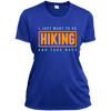 Apparel Ladies Short Sleeve Moisture-Wicking Shirt / True Royal / Small I Just Want to go Hiking and Take Naps! Athletic Tee