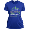 Apparel Ladies Short Sleeve Moisture-Wicking Shirt / True Royal / Small If it Involves Mountains, Coffee or Beer... Count Me In!