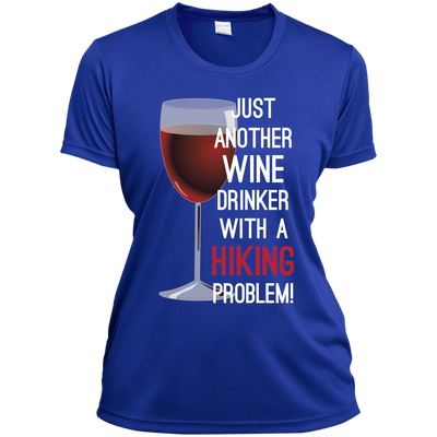 Apparel Ladies Short Sleeve Moisture-Wicking Shirt / True Royal / Small Just Another Wine Drinker... Athletic Tee