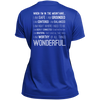 Apparel Ladies Short Sleeve Moisture-Wicking Shirt / True Royal / Small When I'm In The Mountains...(Back) - Athletic Tee