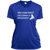 Apparel Ladies Short Sleeve Moisture-Wicking Shirt / True Royal / Small Who Needs Heels? Life's Better in Hiking Boots!