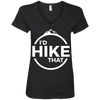 Apparel Ladies' V-Neck Tee / Black / Small I'd Hike That! V-Neck Tee
