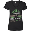 Apparel Ladies' V-Neck Tee / Black / Small If it Involves Mountains, Coffee or Beer... Count Me In!