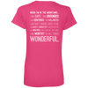 Apparel Ladies' V-Neck Tee / Hot Pink / Small When I'm In The Mountains...(Back) - V-Neck Tee