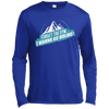 Apparel Long Sleeve Moisture Absorbing Shirt / Royal / Small Forget the Gym...I Wanna Go Hiking! Long Sleeve