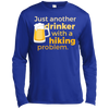 Apparel Long Sleeve Moisture Absorbing Shirt / Royal / Small Just another beer drinker... Template