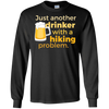 Apparel LS Ultra Cotton Tshirt / Black / Small Just another beer drinker... DO NOT TOUCH