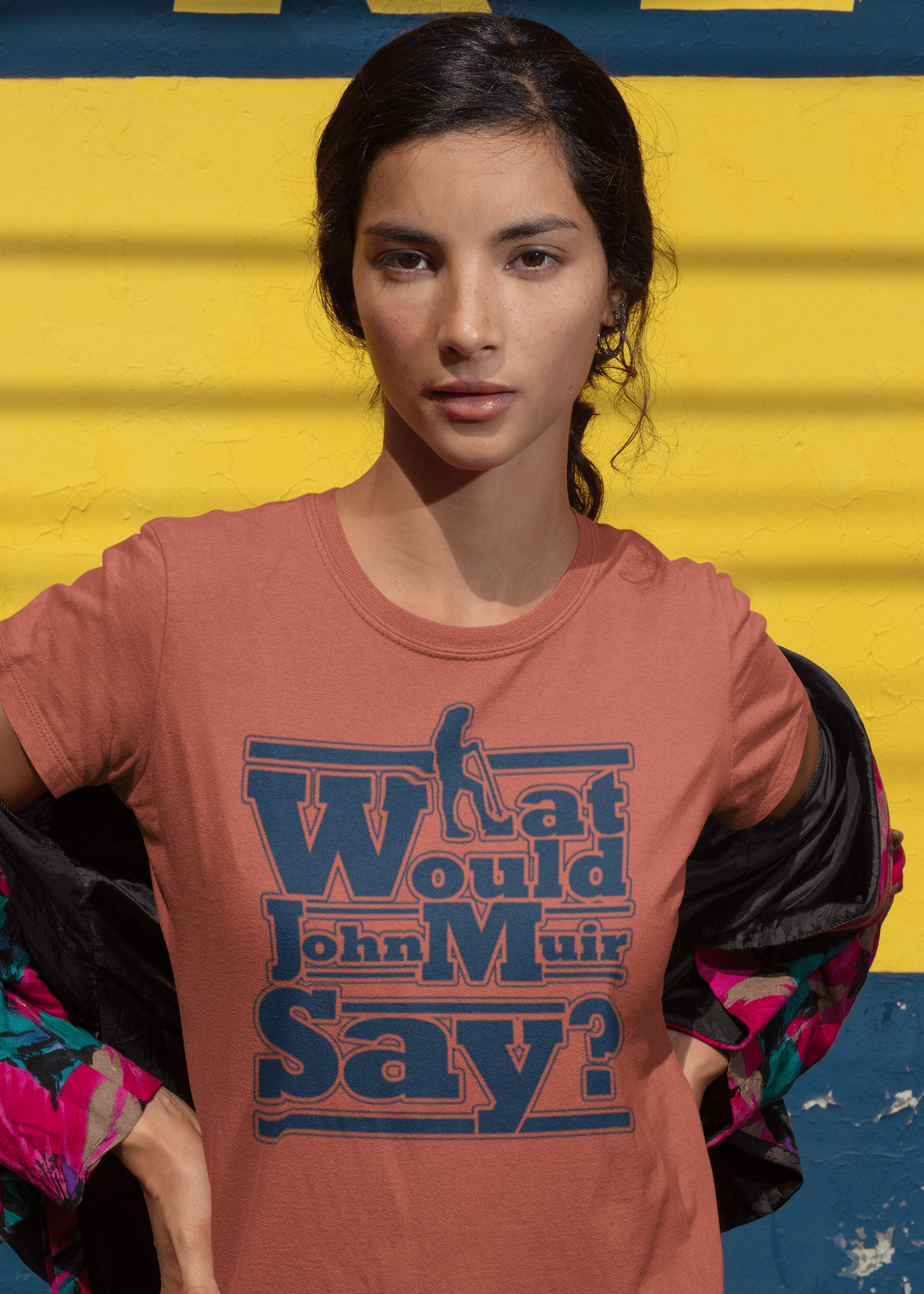 What Would John Muir Say! Tee - Clay