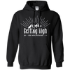 Apparel Pullover Hoodie 8 oz / Black / Small Getting High on Mountains! Hoodie