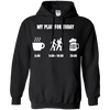 Apparel Pullover Hoodie 8 oz / Black / Small My Plan for Today - Hoodie