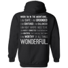 Apparel Pullover Hoodie 8 oz / Black / Small When I'm In The Mountains...(Back) - Hoodie