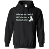 Apparel Pullover Hoodie 8 oz / Black / Small Who Needs Heels? Life's Better in Hiking Boots!