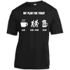 Apparel Short Sleeve Moisture-Wicking Shirt / Black / Small My Plan for Today - Athletic Tee