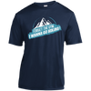 Apparel Short Sleeve Moisture-Wicking Shirt / True Navy / Small Forget the Gym...I Wanna Go Hiking! Athletic Tee