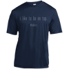 Apparel Short Sleeve Moisture-Wicking Shirt / True Navy / X-Small I Like to be on Top - Athletic Shirt