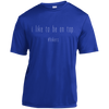 Apparel Short Sleeve Moisture-Wicking Shirt / True Royal / X-Small I Like to be on Top - Athletic Shirt