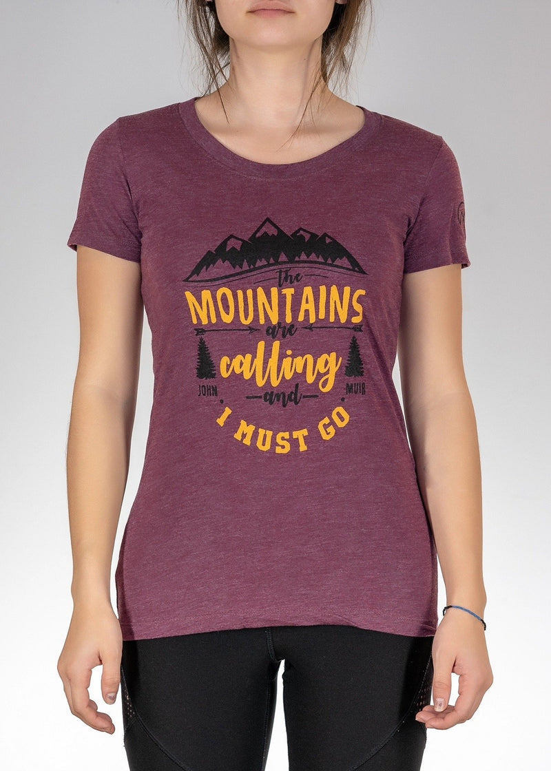 Apparel Performance T-Shirt / Maroon / S The Mountains are Calling! Tee - Maroon