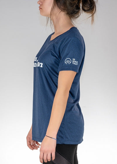 Apparel .This is My Hiking Shirt! Poly Tee - Heather Navy