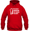 Apparel Unisex Heavyweight Pullover Hoodie / Red / S Crazy Hiking Dad