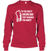 Apparel Unisex Long Sleeve Basic Tee / Deep Red / S Crazy Hiking Dad