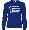 Apparel Unisex Long Sleeve Basic Tee / Deep Royal / S Crazy Hiking Dad