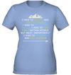 Apparel Womens Performance Tee / Light Blue / S Hike To Get Fit