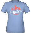 Apparel Womens Performance Tee / Light Blue / S I'd Hike That Retro - Coral
