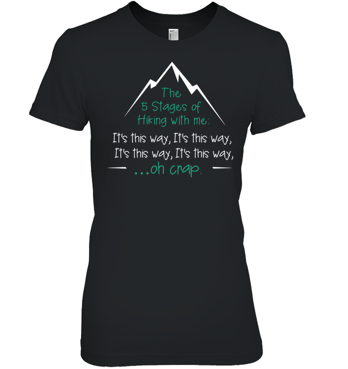 Apparel Womens Relaxed Fit Tee / Black / S 5 Stages of Hiking