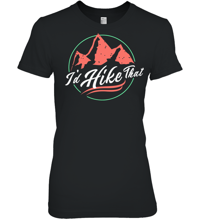 Apparel Womens Relaxed Fit Tee / Black / S I'd Hike That Retro - Coral