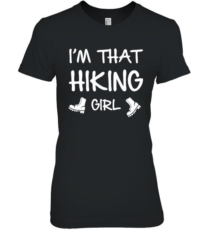 Apparel Womens Relaxed Fit Tee / Black / S I'm That Hiking Girl