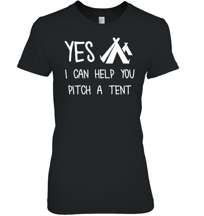 Apparel Womens Relaxed Fit Tee / Black / S Yes I Can Help
