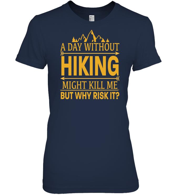 Apparel Womens Relaxed Fit Tee / Black / S A Day Without Hiking