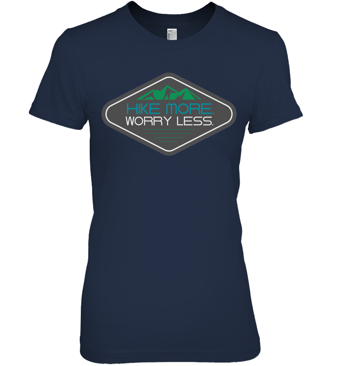 Apparel Womens Relaxed Fit Tee / Black / S Hike More Worry Less
