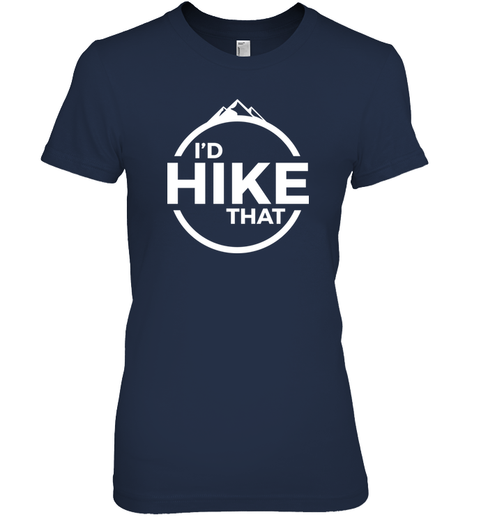 Apparel Womens Relaxed Fit Tee / Black / S I'd Hike That Classic Logo