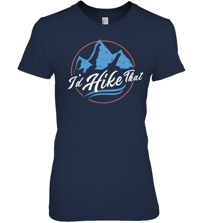 Apparel Womens Relaxed Fit Tee / Black / S I'd Hike That Retro - Blue