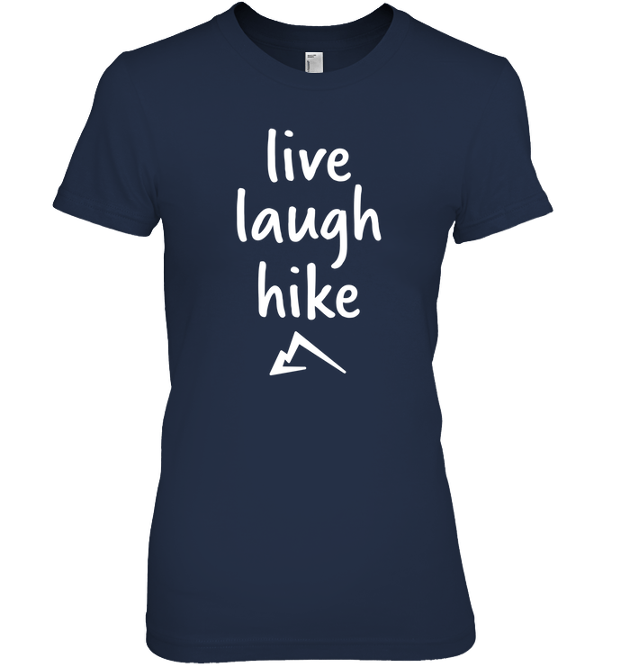 Apparel Womens Relaxed Fit Tee / Black / S Live Laugh Hike