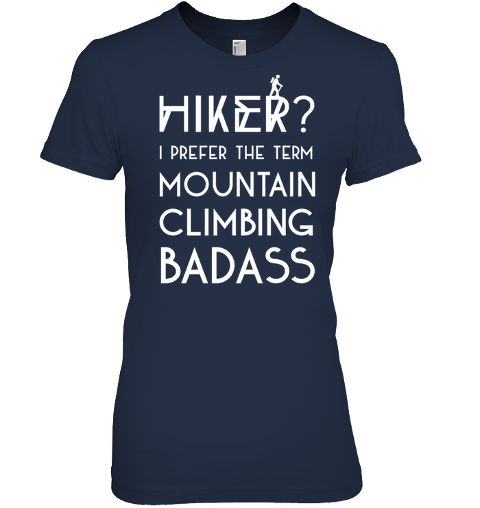 Apparel Womens Relaxed Fit Tee / Black / S Mountain Climbing Badass