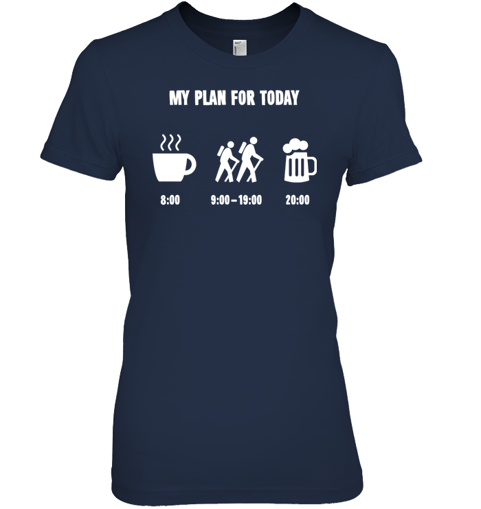 Apparel Womens Relaxed Fit Tee / Black / S My Plan For Today