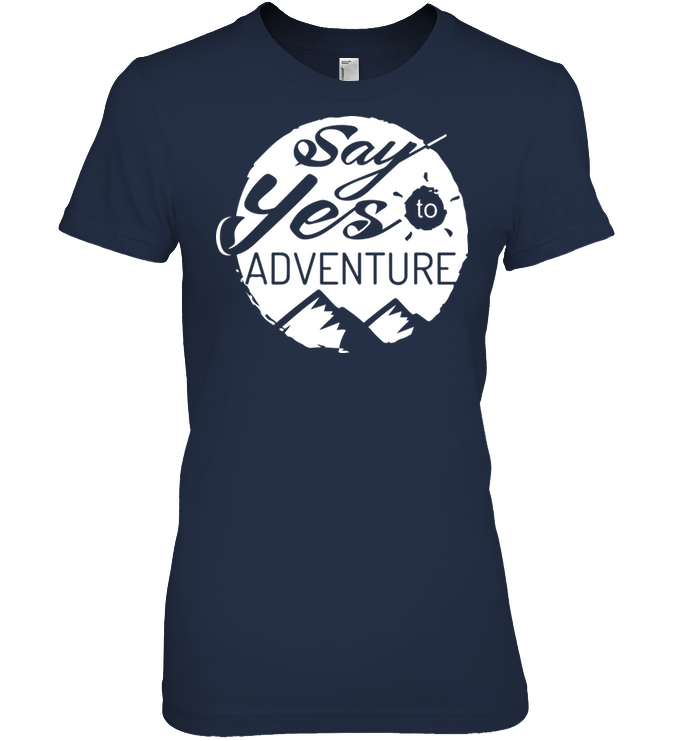 Apparel Womens Relaxed Fit Tee / Black / S Say Yes to Adventure