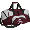 Bags Maroon/Grey / One Size IHT Colorblock Sport Duffel Bag