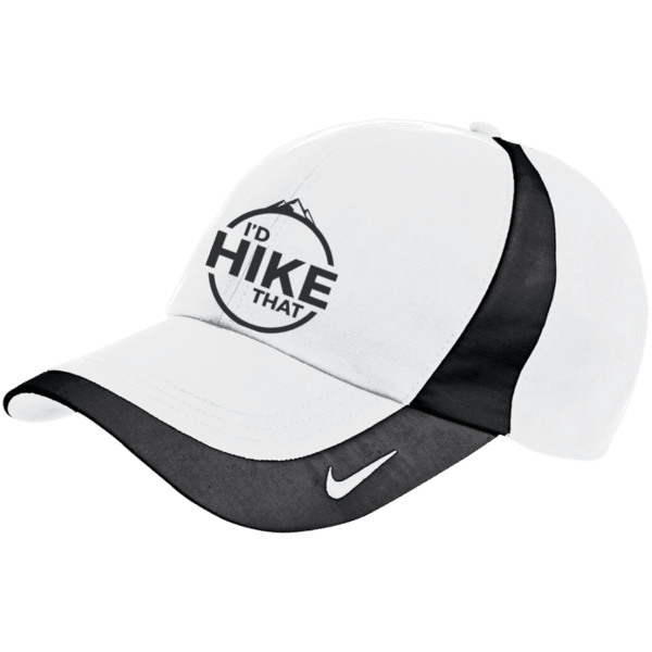 Hats Nike Cap / White/Black / One Size I'd Hike That Nike Hat