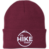 Hats One Size Fits Most Knit Cap / Maroon / One Size I'd Hike That Knit Beanie