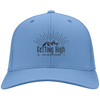 Hats Personalized Twill Cap / Carolina Blue / One Size Getting High on Mountains Cap