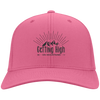 Hats Personalized Twill Cap / Neon Pink / One Size Getting High on Mountains Cap