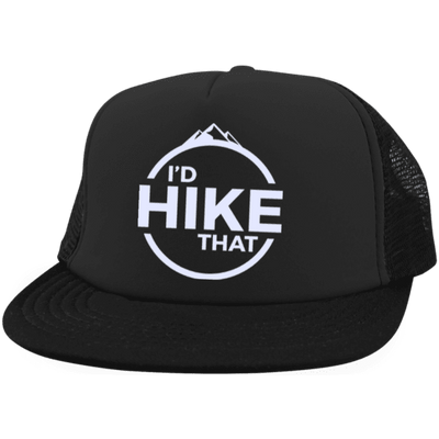 Hats Trucker Hat with Snapback / Black / One Size I'd Hike That Trucker Hat