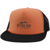 Hats Trucker Hat with Snapback / Neon Orange/Black / One Size Getting High on Mountains Trucker Hat