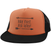 Hats Trucker Hat with Snapback / Neon Orange/Black / One Size Hike First, Ask Later! Trucker Hat